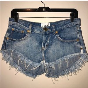 One Teaspoon Bonita Low Waist Denim Shorts